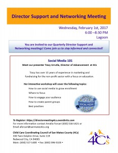 Director Support and Network Meeting, Social Media 101 @ Sobrato Center for Non-Profits   Redwood City   California   United States