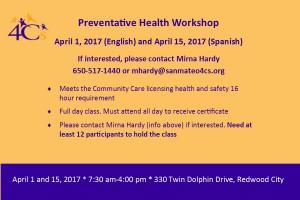 Preventative Health Class @ Sobrato Center for Non Profits   Redwood City   California   United States