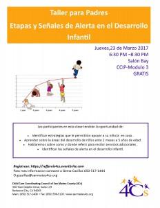 Taller para Padres Etapas y Señales de Alerta en el Desarrollo Infantil @ Sobrato Center for NonProfits | Redwood City | California | United States