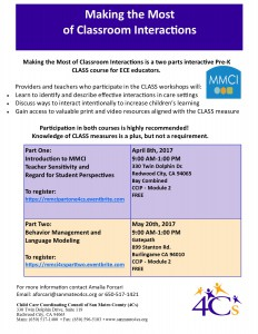 Making the Most  of Classroom Interactions Part 1 @ Sobrato Center for Nonprofits   Redwood City   California   United States