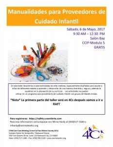 Manualidades para Proveedores de Cuidado Infantil @ Sobrato Center for Non Profits | Redwood City | CA | United States